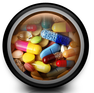Pills and tables for pharmacy simulation blog.