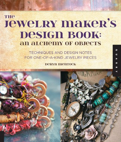 Cover of Jewelry Maker's Design Book by artist Deryn Mentock.