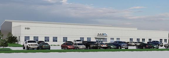 Rending of Sentry Air Systems new building going up in Katy, Texas.