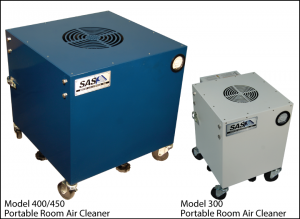 Sentry Air's Model 400 and Model 300 portable room air cleaners.