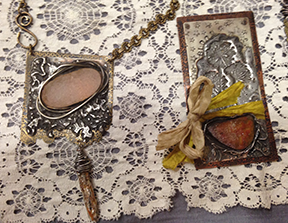 Pendants made by jewelry artist Diane Cook, friend of Sentry Air fume extraction systems.