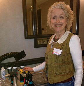 Diane Cook, jewelry artists and aficiando of Sentry Air's solder fume extractors.
