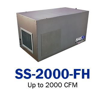 free hanging ambient air cleaner 2000 CFM