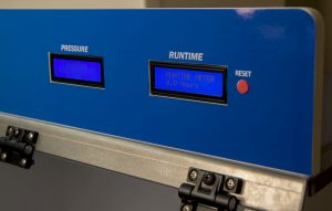 Sentry AirHawk Ductless Fume hood runtime and air pressure displays