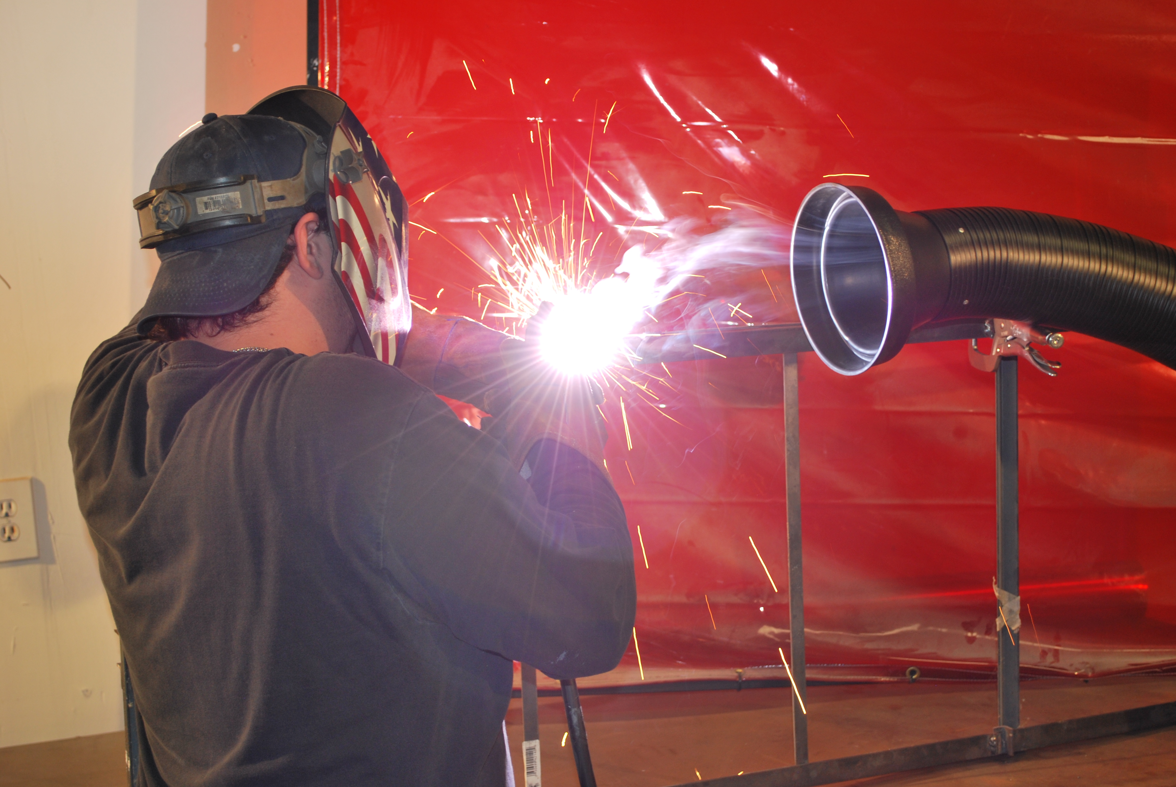 hazards of welding fumes - portable fume extractor