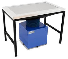Sentry Air industrial downdraft bench.
